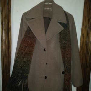 Calvin Klein Wood Nylon Silk Coat for women
